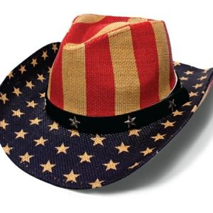 Stars N' Stripes American Flag Cowboy Hat USA